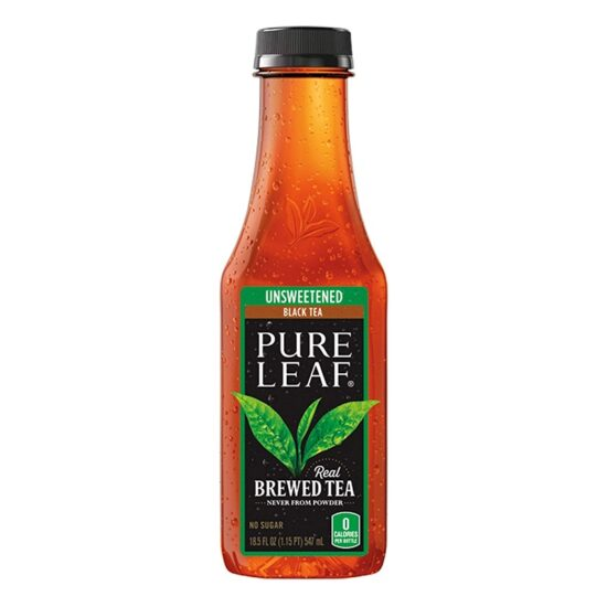 Pure Leaf Unsweetened Black Tea 18.5 Fl Oz 12pk