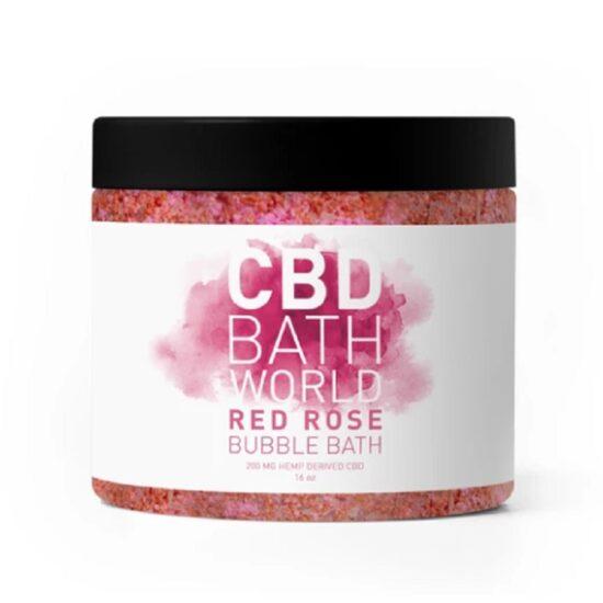 BATH WORLD RED ROSE BUBBLE BATH