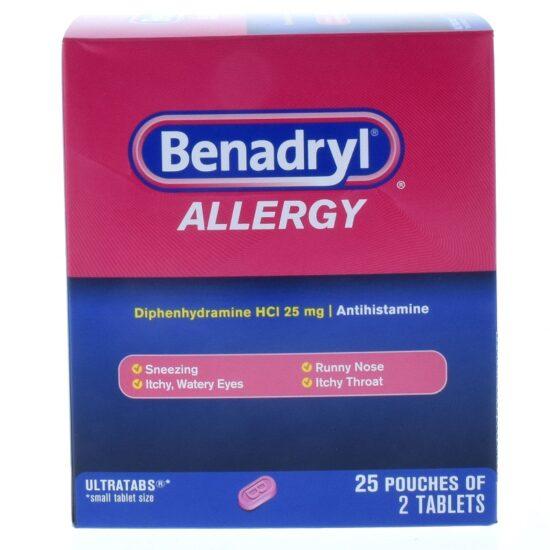 BENADRYL 25CT BOX