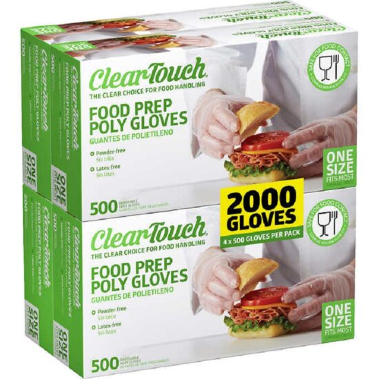 CLEAR TOUCH FOOD PREP POLY GLOVES ONE SIZE