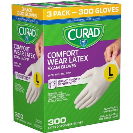 CURAD WEAR LATEX EXAM GLV LARGE