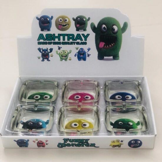 Furry Monster Glass Ashtray 6ct