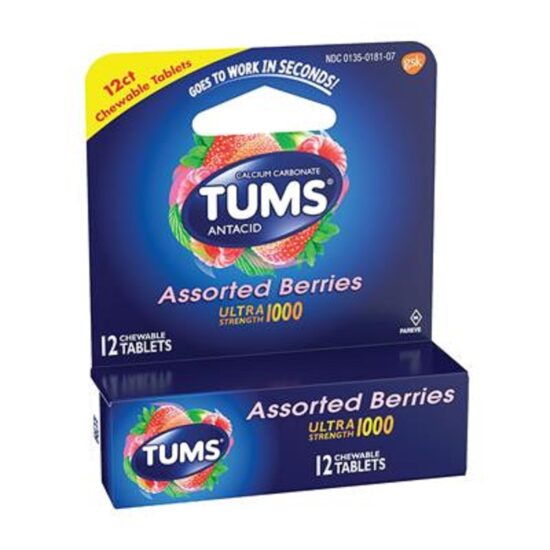 TUMS EX ASST BERRIES 12CT