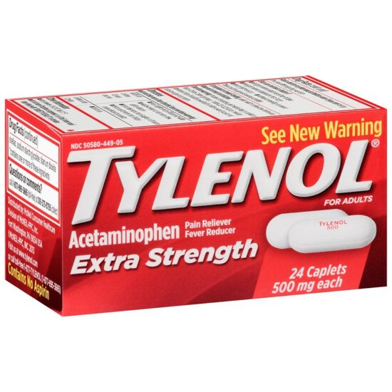 TYLENOL CAPLETS 24 CT