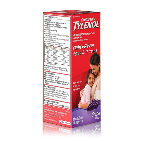 TYLENOL CHILDREN 4 OZ GRAPE