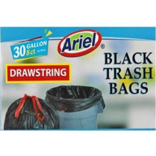 Ariel 30 Gallon Black Trash Bag 8ct