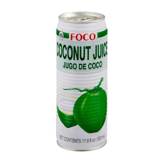 Foco Coconut Juice 12ct 17.6oz