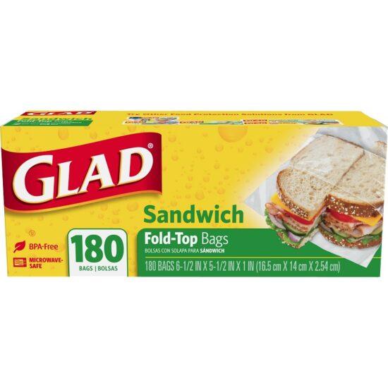Glad Fold Top Sandwich Bag 180ct