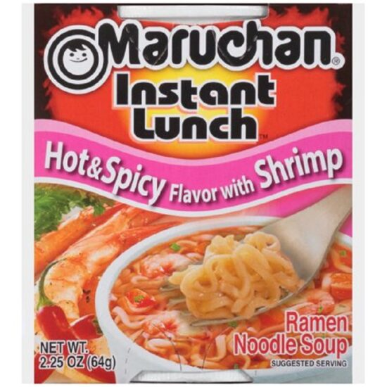 Maruchan Hot Spcy Shrimp Instant12ct 2.25oz