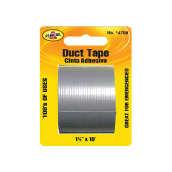 "Pennzoil Duct Tape Clear 1'1/2"" 10ft"