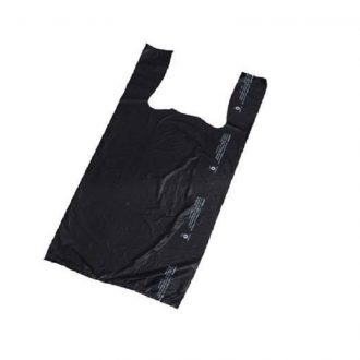 Plastic T-Shirt Black Bags Box 8*4*16 Small 800pcs