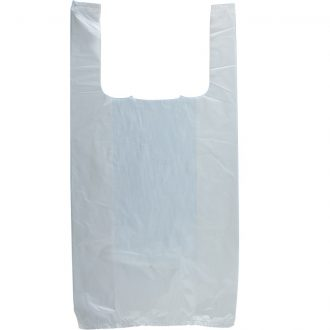 Plastic T-Shirt White Bag Box 8*4*16