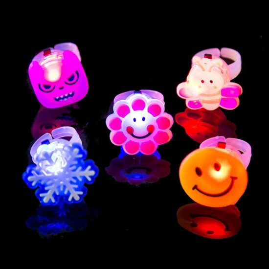 Smiling Flashing Jelly Ring