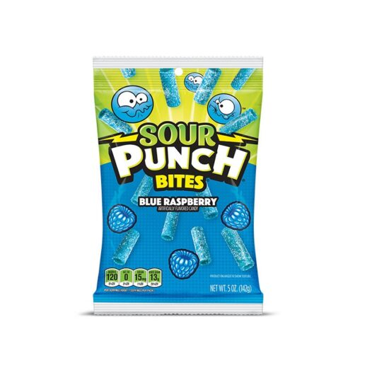 Sour Punch Blue Raspberry Bites 5oz