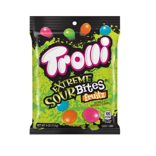 Trolli Extreme Sour Bites Fruitz HB 4oz