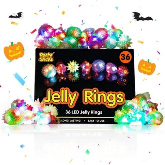 Flashing Jelly Rings 36 Pcs