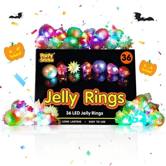 Flashing Jelly Rings 36 Pcs