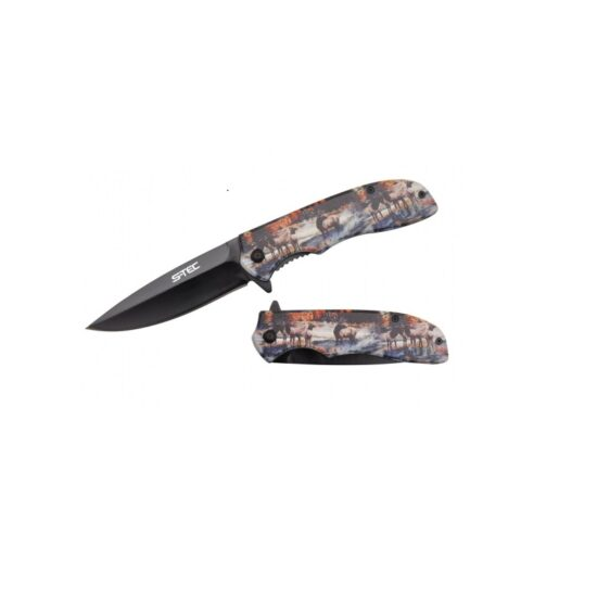 8'' UV PRINTED ABS SPRING ASSISTED FOLDING KNIFE