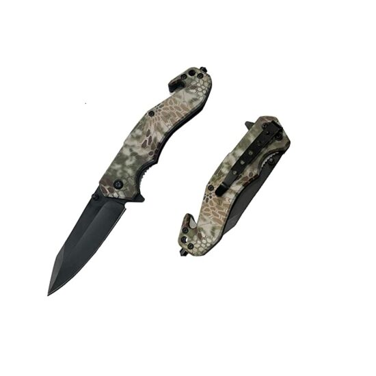 8'' VORTEX BLADE SHOP UV PRINTED ABS ASSISTED FOLDING KNIFE