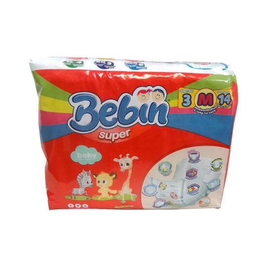 Bebin Super Diaper Medium 14ct