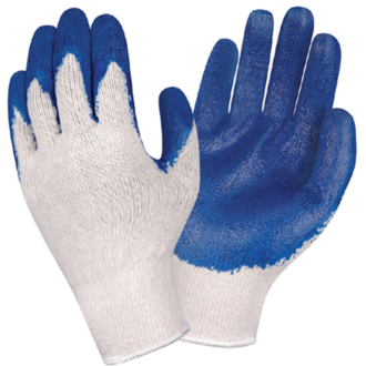 Latex Coated String Knit Gloves 12ct