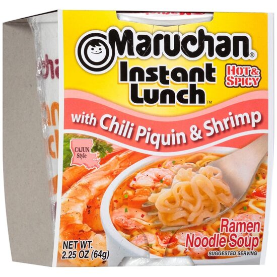 MARUCHAN CUP WITH CHILI PIQUIN & SHRIMP 12CT