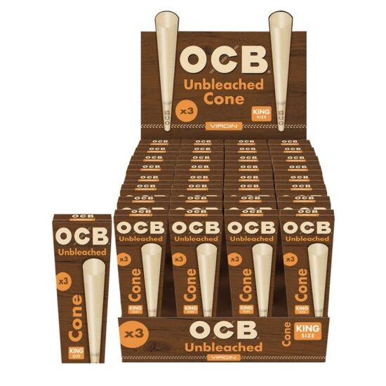 OCB UNBLEACHED CONE KING SIZE