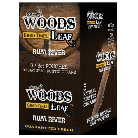 SWEET WOODS LEAFT RUM RIVER 6/5CT POUCHES