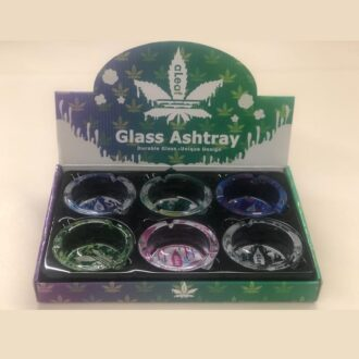 Aleaf Glass Ashtray 6ct