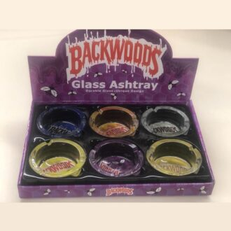 Backwoods Glass Ashtray 6ct