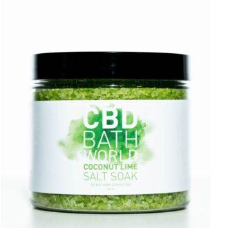 Bath Bomb Coconut Lime Salt Soak