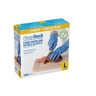 Clear Touch Nitrile Glove L