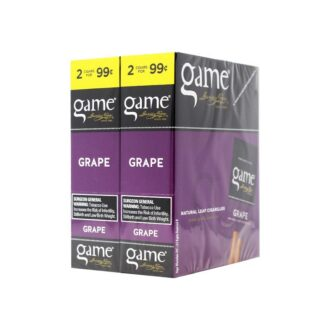 Game Cigars Grape 2 For 0.99 30ct
