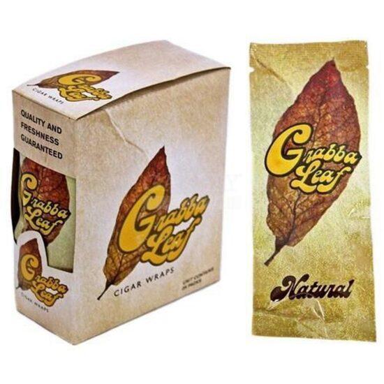 Grabba Leaf Natural Cigars Wrap 25Ct
