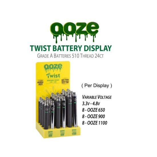 Ooze Twist Variable Battery 3.3V - 4.8V 24ct
