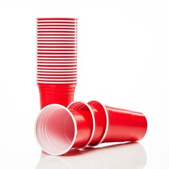 Party Tumblers 16oz Solid Red