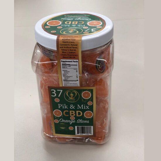 Pik & Mix CBD Orange Slices 25mg 75ct in a Jar