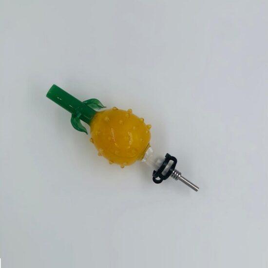 Perk Pineapple Glass Honey Straw