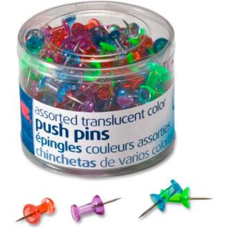 Push Pins Translucent Assorted 24ct