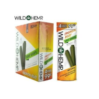 Wild Hemp Hemp Wraps-Tropical Buzz 4 For 0.99 20ct