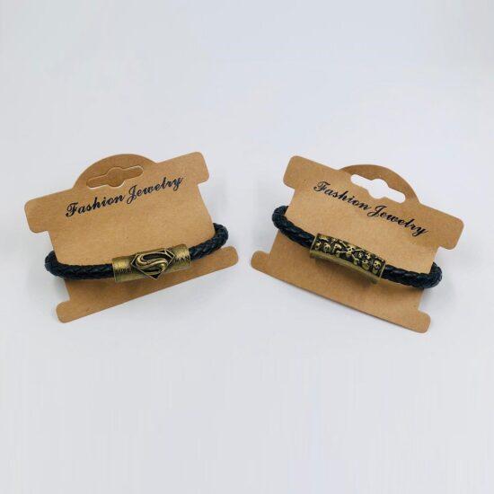 Braided Leather Men's Bracelet 6pcs