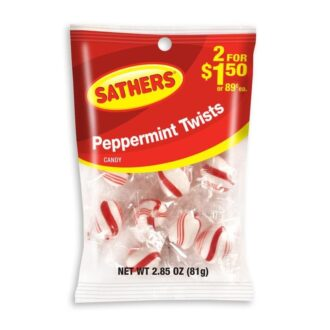 Sathers Peppermint Twist 2 For $1.50 2.20oz 12ct