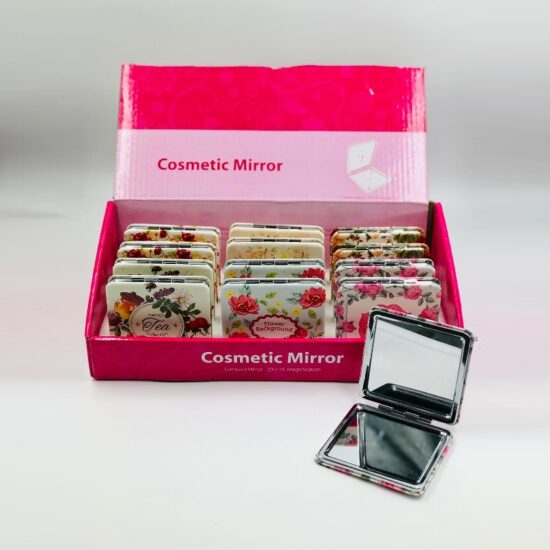 Square Leather Compact Mirror 12pcs