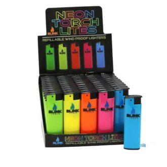 Blink Wind Proof Neon Torch Lites 50ct