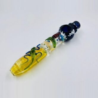 "8"" Blue Fancy Critter Chillum"