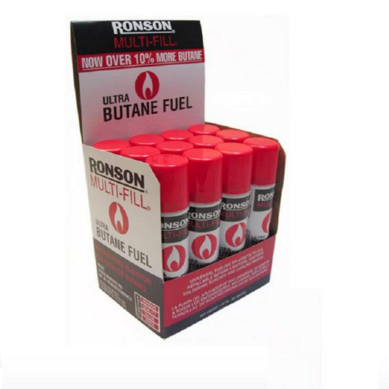 Ronson Ultra Butane Fuel 2.75oz 12pcs