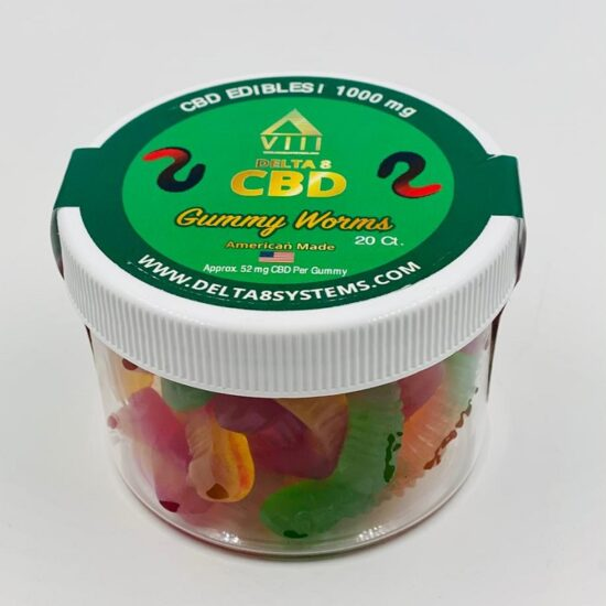 VIII Delta & CBD Gummy Worms 2500mg 30ct