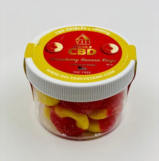 VIII Delta & CBD Strawberry Banana Rings 1000mg 30ct