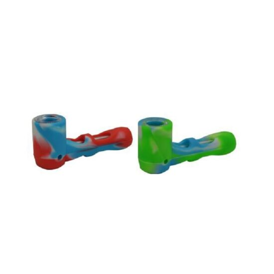 """4"""" Silicone-Covered Glass Hammer Pipe"""