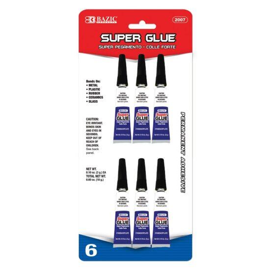 Bazic Super Glue 6ct